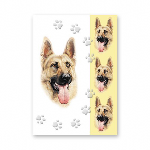 GERMAN SHEPHERD GREETINGS CARD